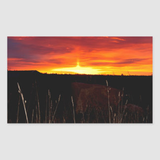 Sticker Rectangulaire Le feu dans le ciel au lever de soleil
