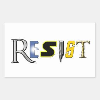 Sticker Rectangulaire Le geeks résiste !