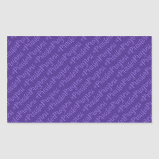 Sticker Rectangulaire Le jour des femmes internationales de HashTag de