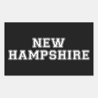 Sticker Rectangulaire Le New Hampshire