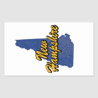 Sticker Rectangulaire Le New Hampshire