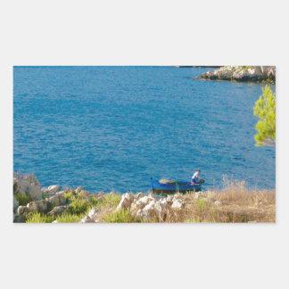 Sticker Rectangulaire Le pêcheur sicilien