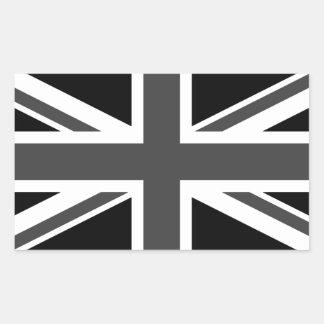 Sticker Rectangulaire Le Royaume-Uni : Union Jack noir