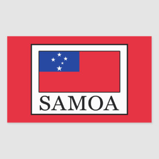 Sticker Rectangulaire Le Samoa