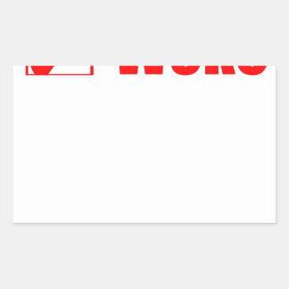 Sticker Rectangulaire Le séjour a réveillé le courrier de contrôle