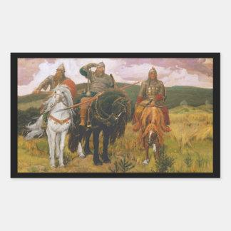 Sticker Rectangulaire Le trio de Viking surveille (les guerriers)