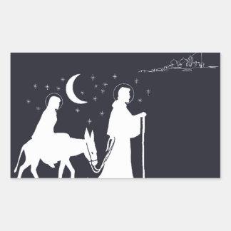 Sticker Rectangulaire Le voyage vers Bethlehem