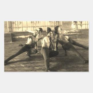 Sticker Rectangulaire Les années 1930 masculines de danseurs