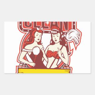 Sticker Rectangulaire Les décapants jumeaux nettoient les années 1950