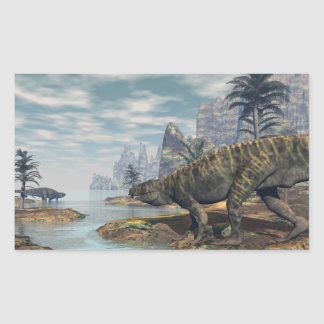 Sticker Rectangulaire Les dinosaures -3D de Batrachotomus rendent