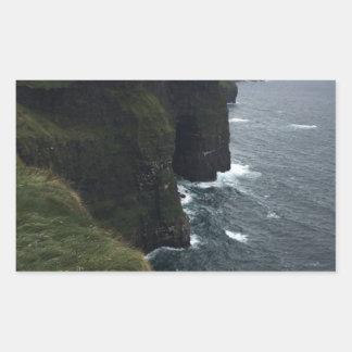 Sticker Rectangulaire Les falaises de Moher