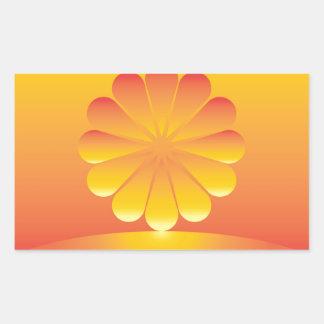 Sticker Rectangulaire les hausses du soleil