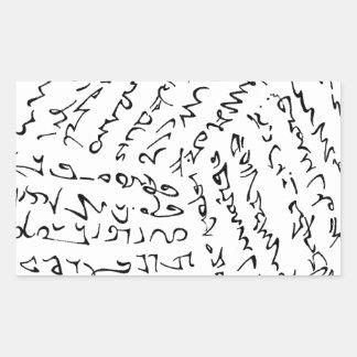 Sticker Rectangulaire Les mots sont magiques