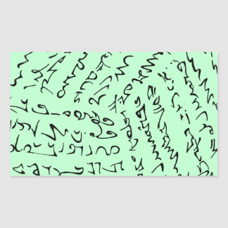 Sticker Rectangulaire les mots sont magiques (le vert en bon état)