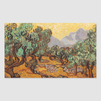 Sticker Rectangulaire Les oliviers de Vincent Van Gogh (Olives trees)