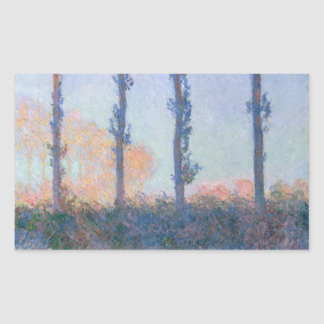 Sticker Rectangulaire Les quatre arbres par Claude Monet