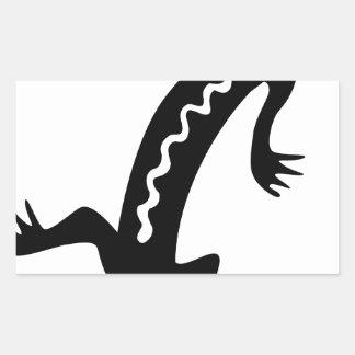 Sticker Rectangulaire Lézard noble