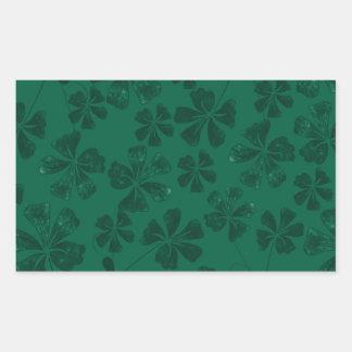 Sticker Rectangulaire lflowers verts