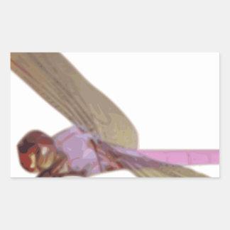 Sticker Rectangulaire Libellule