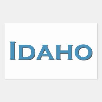 Sticker Rectangulaire L'Idaho Etats-Unis