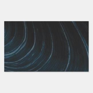 Sticker Rectangulaire Ligne d'écoulement onduleuse