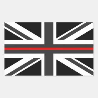 Sticker Rectangulaire Ligne rouge mince drapeau du R-U