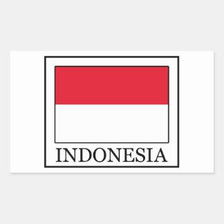 Sticker Rectangulaire L'Indonésie