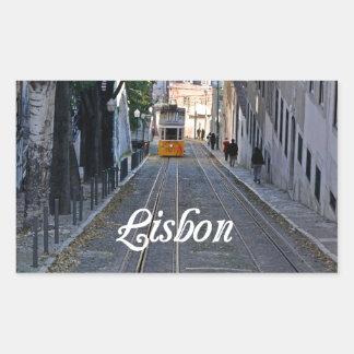Sticker Rectangulaire Lisbonne
