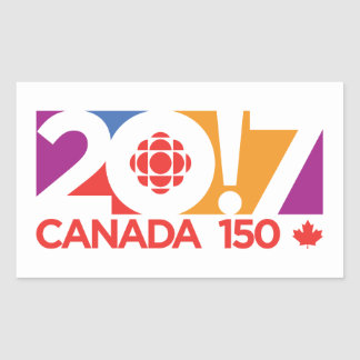 Sticker Rectangulaire Logo 2017 de CBC/Radio-Canada