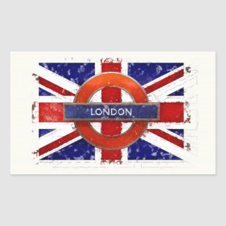 Sticker Rectangulaire Londres, l'Angleterre, Great Britain, Union Jack,