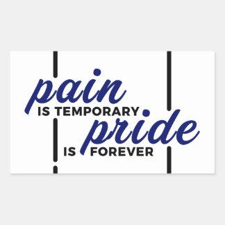 Sticker Rectangulaire Longue de gain de douleur courte de fierté