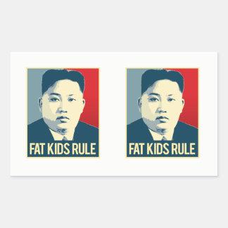 Sticker Rectangulaire L'ONU de Kim Jong - grosse règle d'enfants -