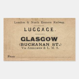 Sticker Rectangulaire Luggage Glasgow