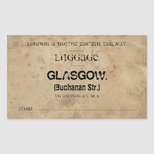 Sticker Rectangulaire Luggage Glasgow (To customize)