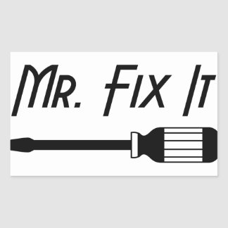 Sticker Rectangulaire M. Fix It