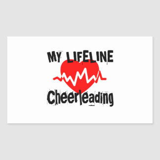 Sticker Rectangulaire Ma ligne de vie conceptions Cheerleading de sports