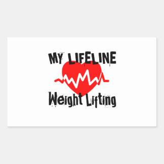 Sticker Rectangulaire Ma ligne de vie haltérophilie folâtre des