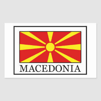 Sticker Rectangulaire Macédoine