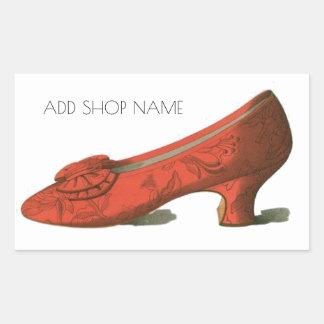 Sticker Rectangulaire Magasin de chaussure vintage