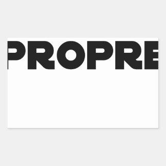 Sticker Rectangulaire MÂLE-PROPRE - Jeux de mots - Francois Ville