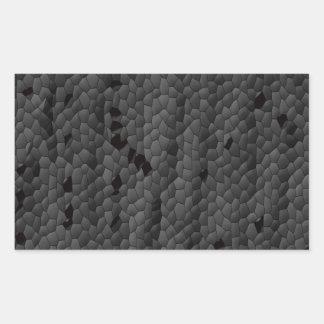 Sticker Rectangulaire Mamba noir dans illustré, art