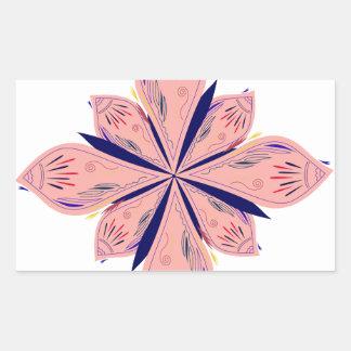 Sticker Rectangulaire Mandalas d'or de rosé