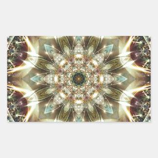 Sticker Rectangulaire Mandalas du coeur du changement 10, articles de