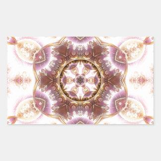 Sticker Rectangulaire Mandalas du coeur du changement 14, articles de