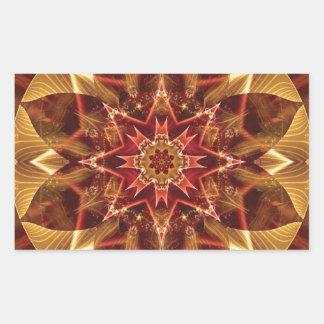Sticker Rectangulaire Mandalas du coeur du changement 15, articles de