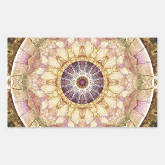 Sticker Rectangulaire Mandalas du coeur du changement 2, articles de