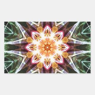 Sticker Rectangulaire Mandalas du coeur du changement 5, articles de