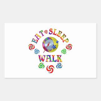 Sticker Rectangulaire Mangez la promenade de sommeil