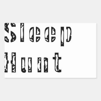 Sticker Rectangulaire Mangez la répétition de chasse à sommeil
