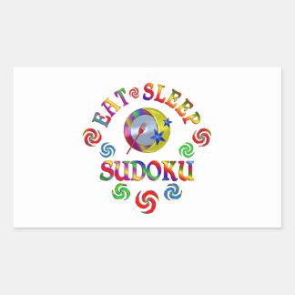 Sticker Rectangulaire Mangez le sommeil Sudoku